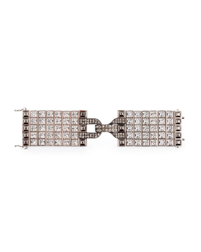 Large Square Crystal Bracelet