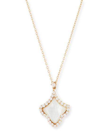 Roberto Coin 18K Rose Gold Mother-of-Pearl Deco Fleur-de-Lis
