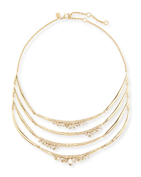Alexis Bittar Jagged Marquis Station Bib Necklace