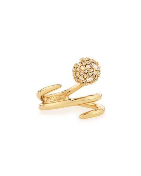 Alexis Bittar Crystal-Sphere Coil Ring