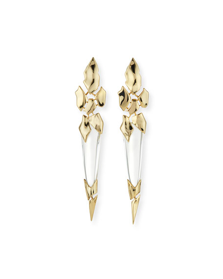 Alexis Bittar Fractured Spear Crystal Clip-On Earrings