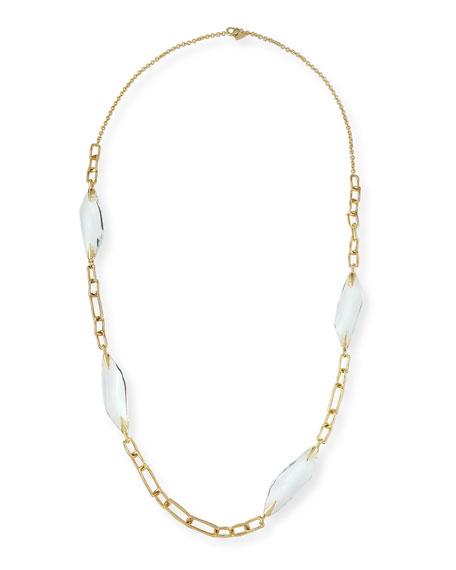 Alexis Bittar Crystal Station Link Necklace, 42
