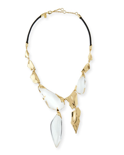 Shattered Draping Bib Necklace