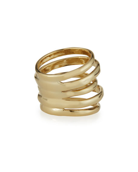 Stacked Golden Ring