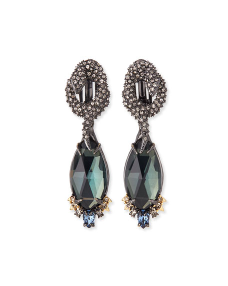 Alexis Bittar Coiled Snake & Pyrite Clip-On Drop