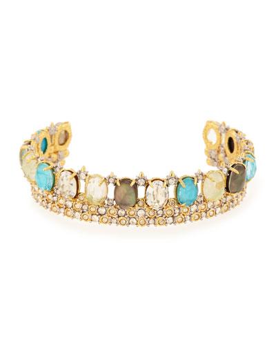Multicolor Crystal Cuff Bracelet