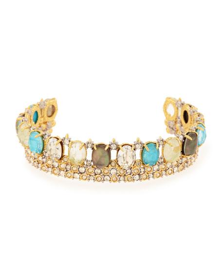 Alexis Bittar Multicolor Crystal Cuff Bracelet