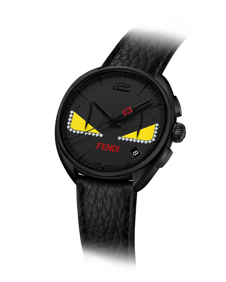 40mm Ladies' Monster Eyes Chronograph Watch, Black