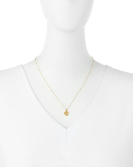 Dogeared Going Places 14K Gold Compass Pendant Necklace