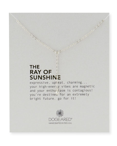 Dogeared Ray of Sunshine Disco Bead Necklace