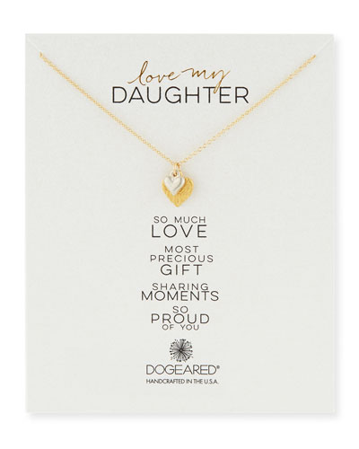 Love My Daughter Pendant Necklace