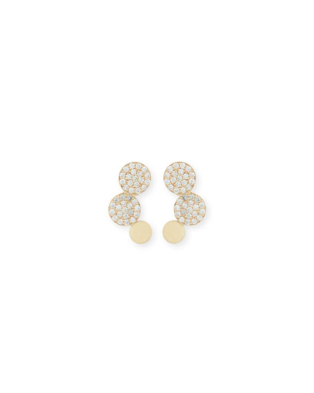 Lana 14K Gold Diamond Disc Stud Earrings