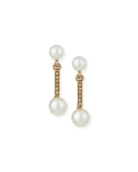 Oscar de la Renta Pearly Double-Drop Earrings