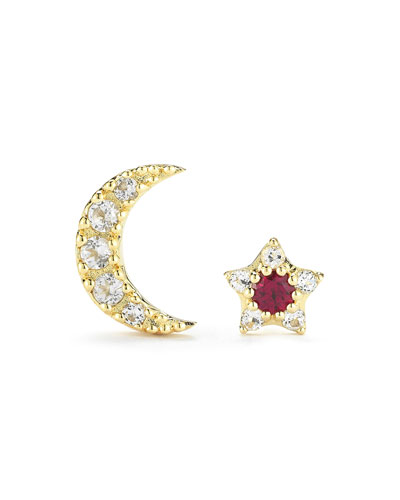 Nova Star & Moon Stud Earrings