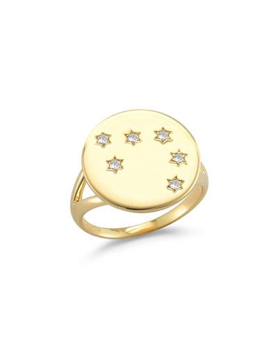 Vega Crystal Medallion Ring