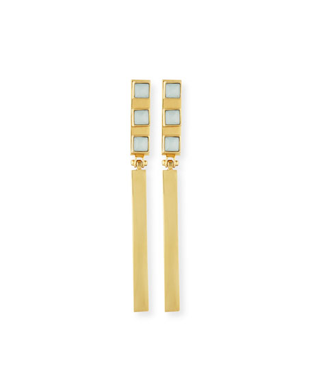 Lele Sadoughi Crystal Wand Stick Earrings