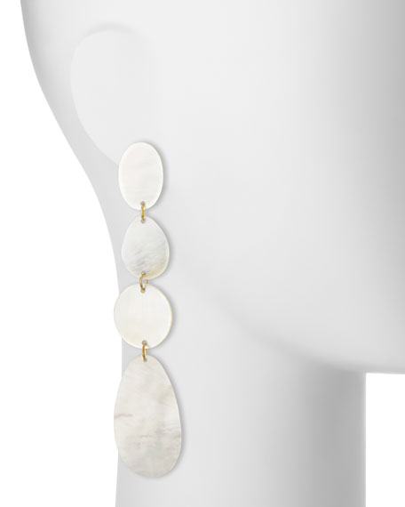 Mother-of-Pearl Disc Drop Earrings