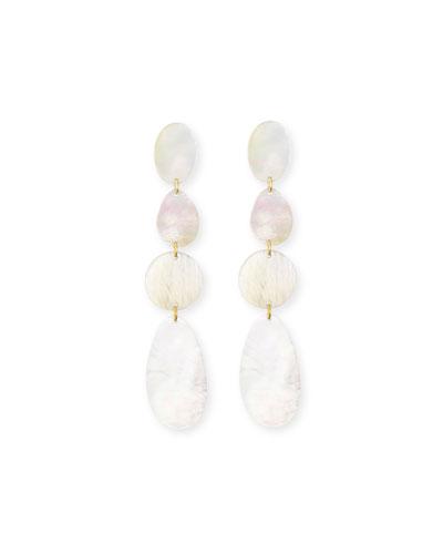 Mother-of-Pearl Disc Drop Earrings