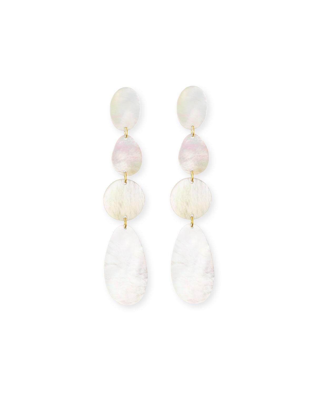 Viktoria Hayman Mother-of-Pearl Disc Drop Earrings Uqzg2V