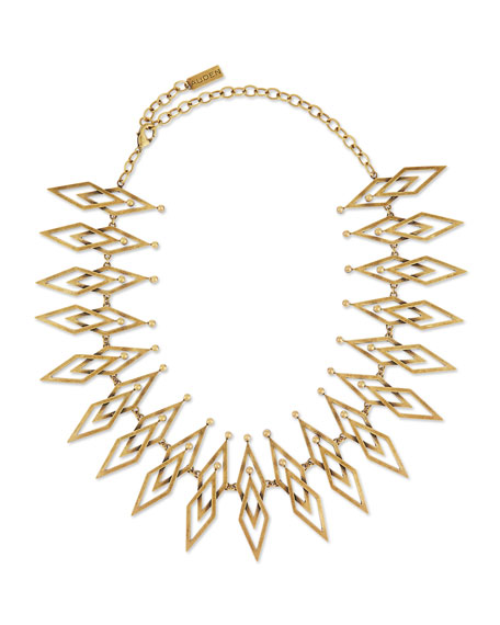 Dakota Brass Statement Necklace