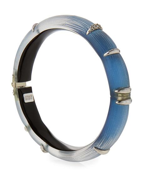 Liquid Stripe Lucite Cuff Bracelet, Ocean