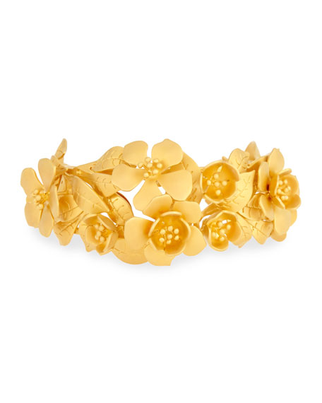 Valentino Golden Garden Party Cuff Bracelet