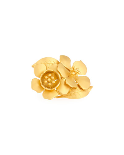 Golden Garden Party Ring, Size 7