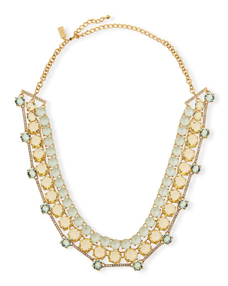 kate spade new york carnival crystal statement necklace,
