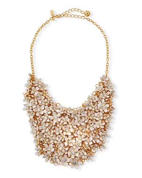 kate spade new york pretty petals bib necklace,