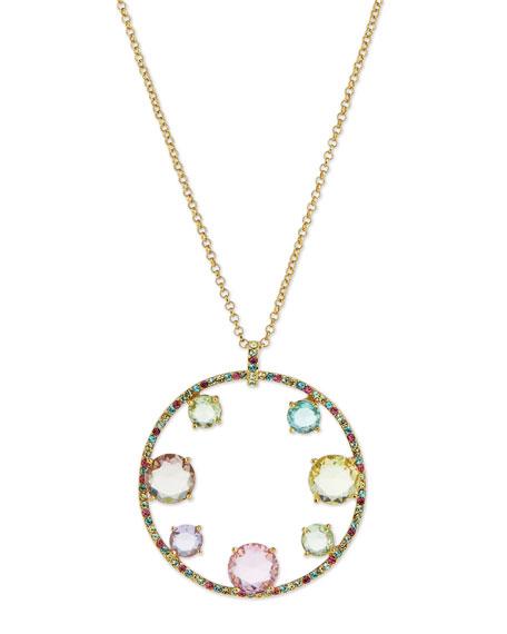 kate spade new york carnival crystal pendant necklace, multi