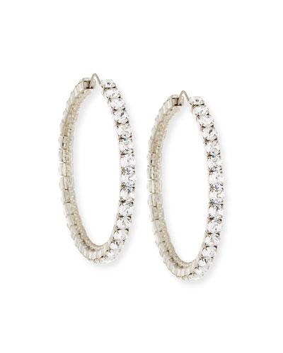 Rosario Swarovski® Crystal Hoop Earrings