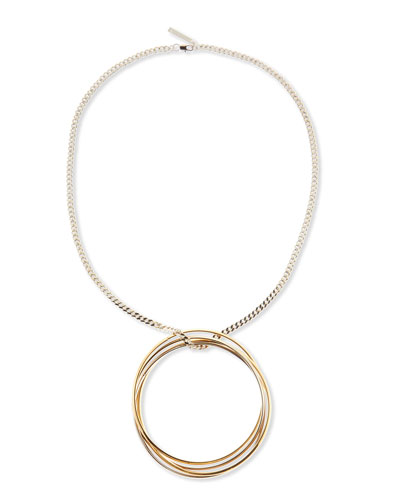 Large Multi-Ring Pendant Necklace