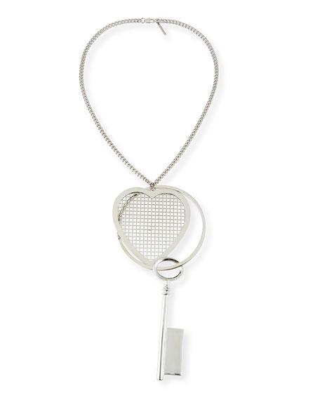 Givenchy Heart & Key Pendant Necklace