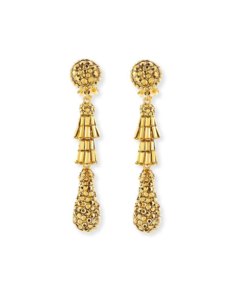 Jose & Maria Barrera Golden Tiered Baguette Teardrop