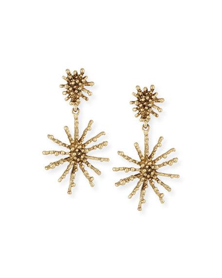 Oscar de la Renta Golden Starfish Clip-On Drop Earrings