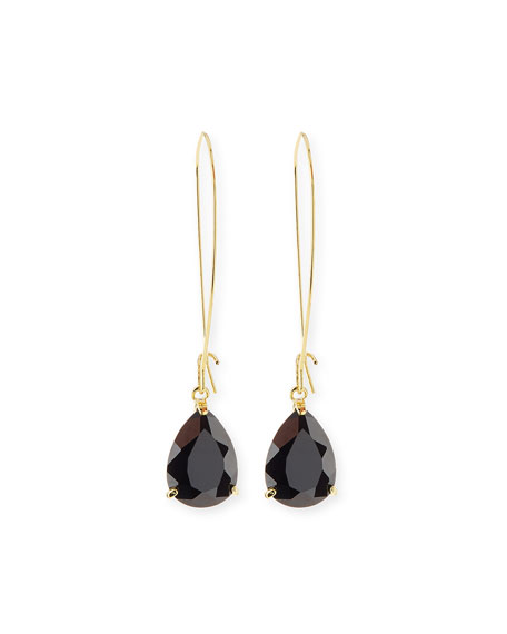Lisa FreedeTeardrop Crystal Golden Wire Drop Earrings
