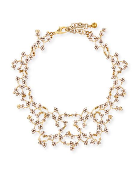 Lulu Frost Jackie Crystal Web Necklace