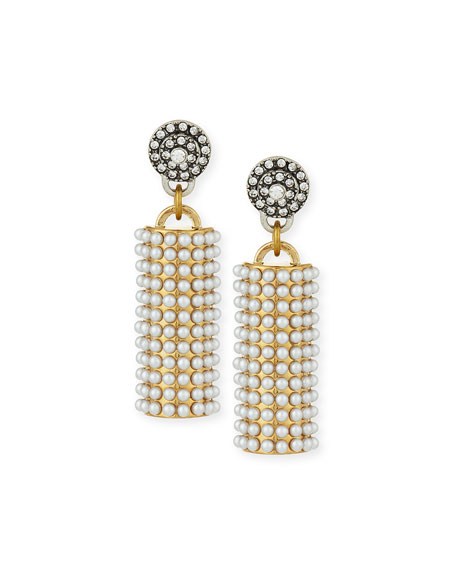 Lulu Frost Ursula Pearly Column Earrings