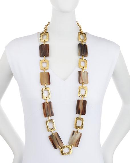 Bustani Light Horn Link Necklace