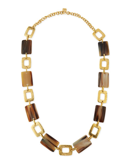 Bustani Light Horn Link Necklace