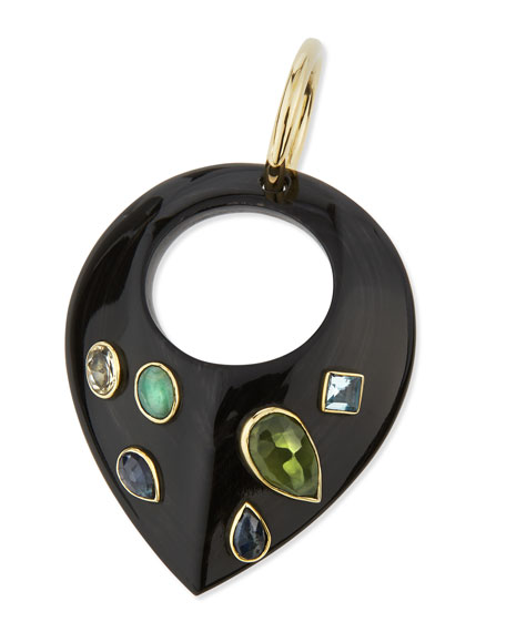 Ashley Pittman Kuangusha Jeweled Dark Horn Pendant