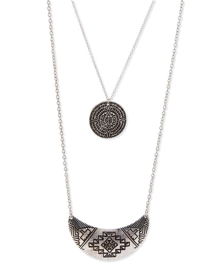 Jules Smith Double-Layer Medallion Necklace