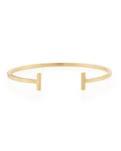 Mini Demi Bar Cuff Bracelet, Gold