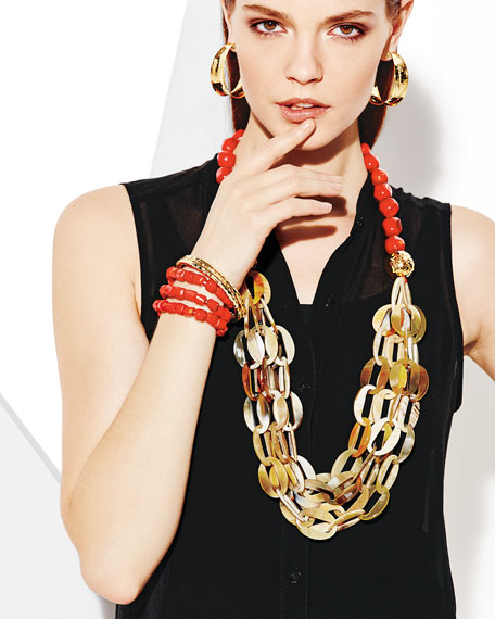 Horn Link Coral Necklace