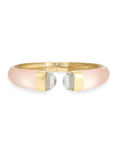 Lucite Break Hinge Bangle Bracelet