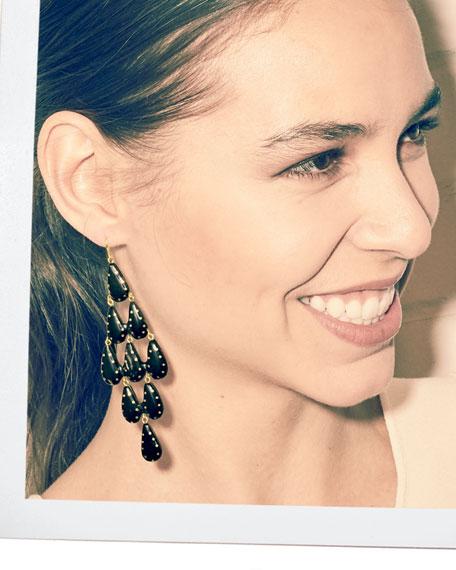 Densi Chandelier Horn Earrings