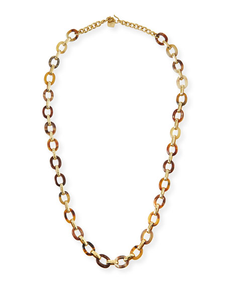 Shamba Light Horn Link Necklace