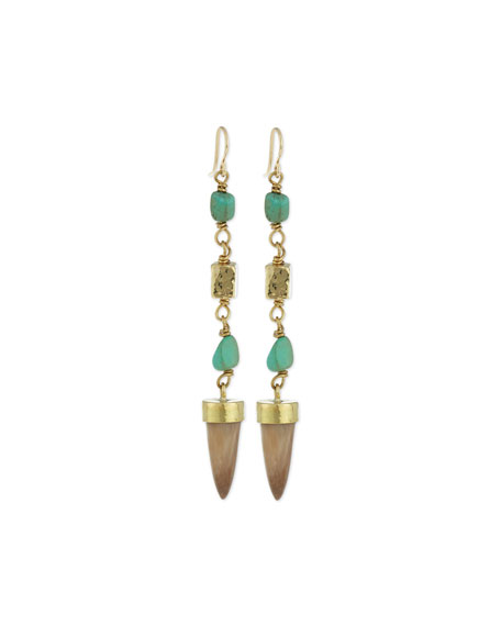 Ashley Pittman Uti Light Horn & Turquoise Drop