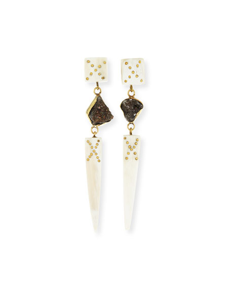 Ashley Pittman Sepetu Light Horn Drop Earrings