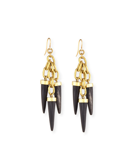 Ashley Pittman Shina Dark Horn Earrings
